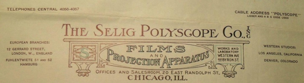 Selig Polyscope Company Letterhead